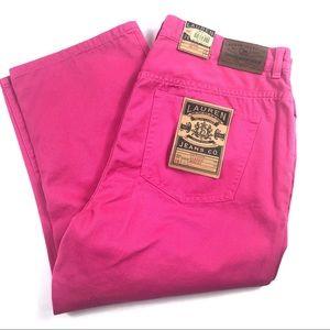 NEW Ralph Lauren Mid Calf Classic Crop Pants 14